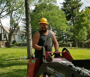 Man using Equipment